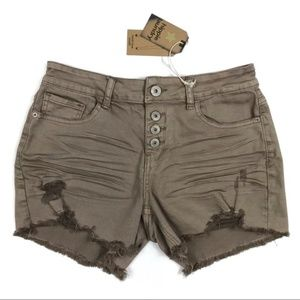 Hippie Laundry Mid-Rise Distressed Shorts